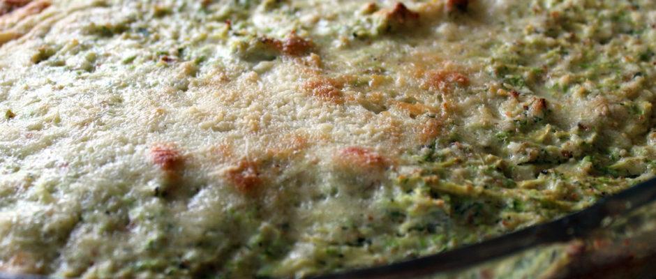 Κολοκυθάκια με αβγά και τυριά στον φούρνο