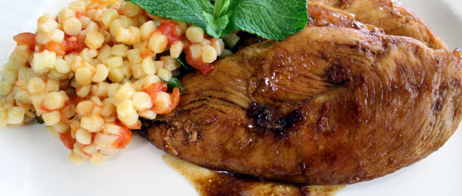 Κοτόπουλο γλασαρισμένο με βαλσάμικο