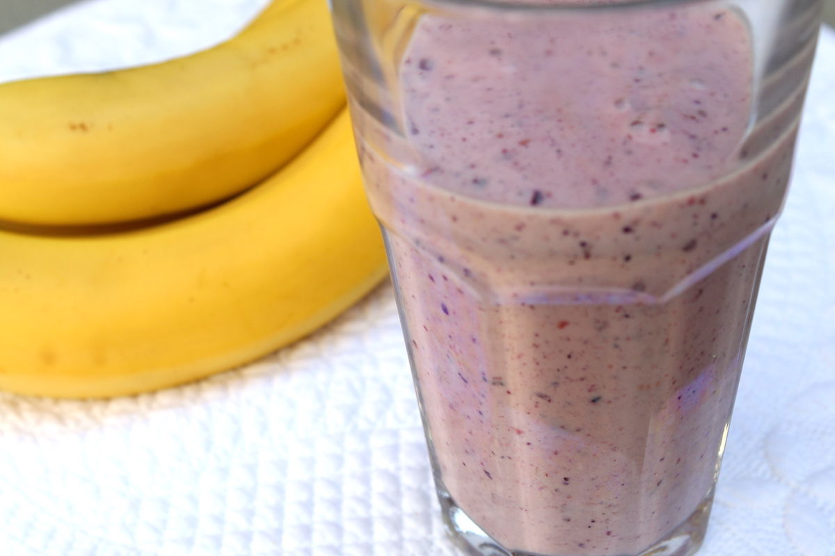 Smoothie με προβιοτικά και κόκκινα φρούτα