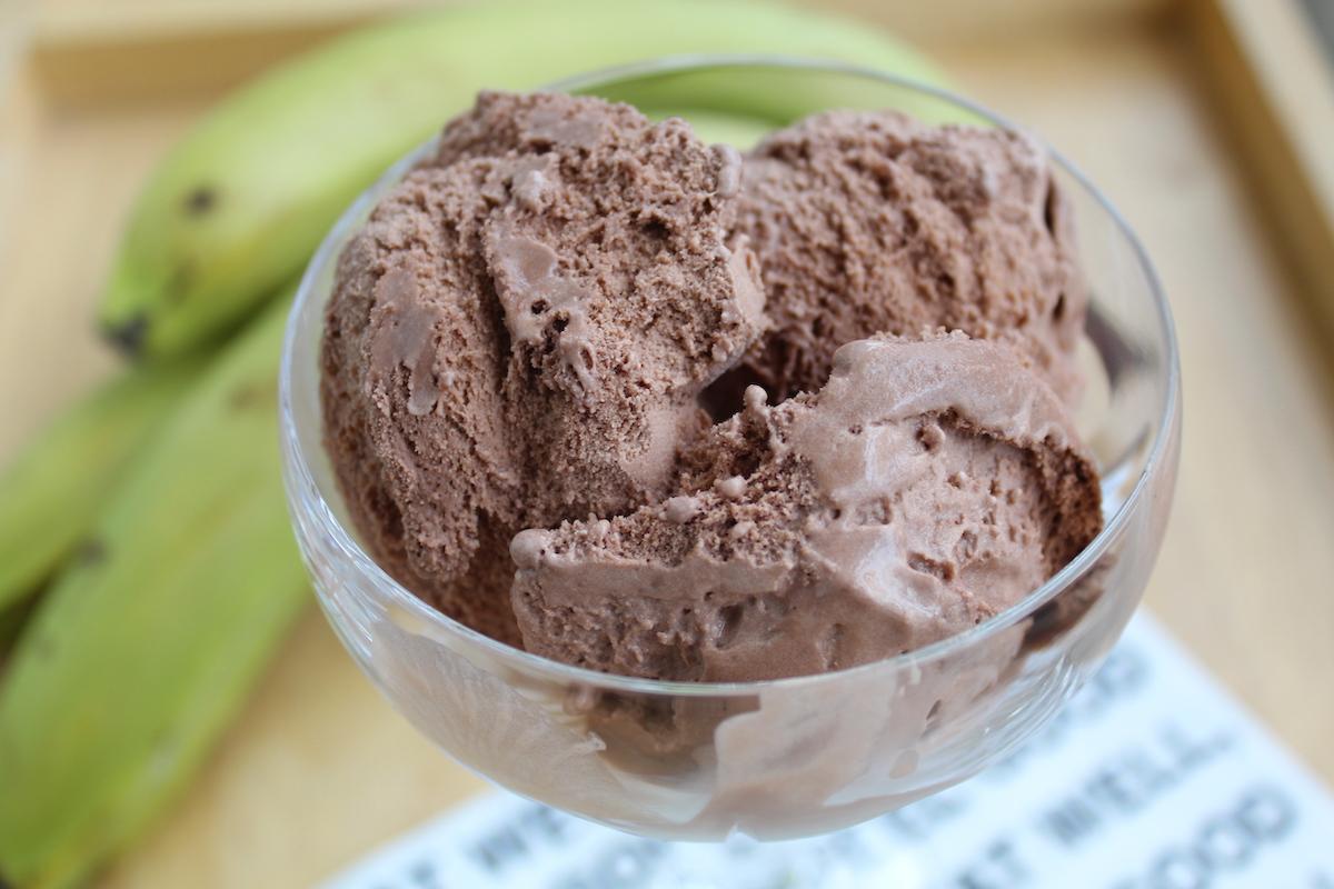 Παγωτό κακάο χωρίς ζάχαρη και γαλακτοκομικά