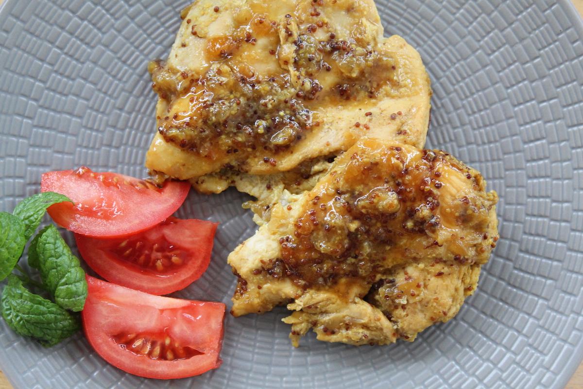Στήθος κοτόπουλου με μέλι και μουστάρδα