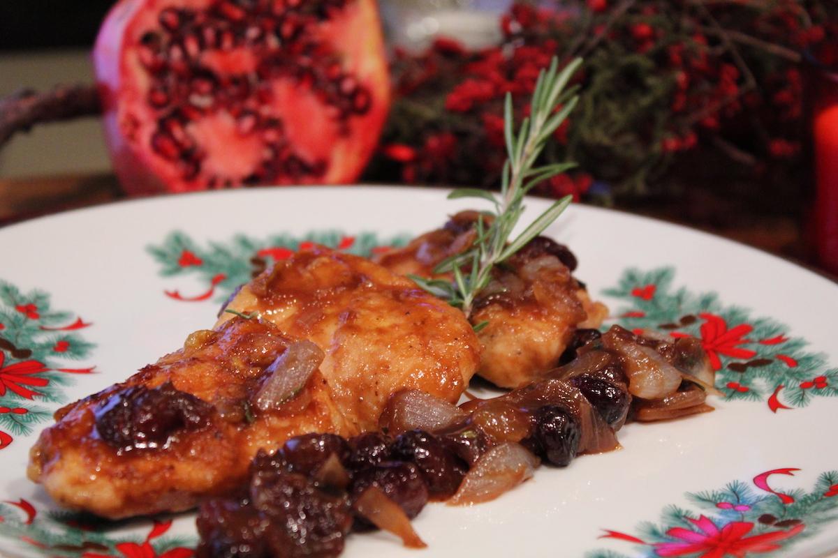 Φιλέτο κοτόπουλου με κράνμπερις