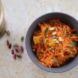 Μαροκινή καροτοσαλάτα με πορτοκάλι