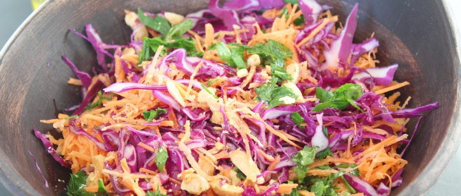 σαλάτα λάχανο καρότο