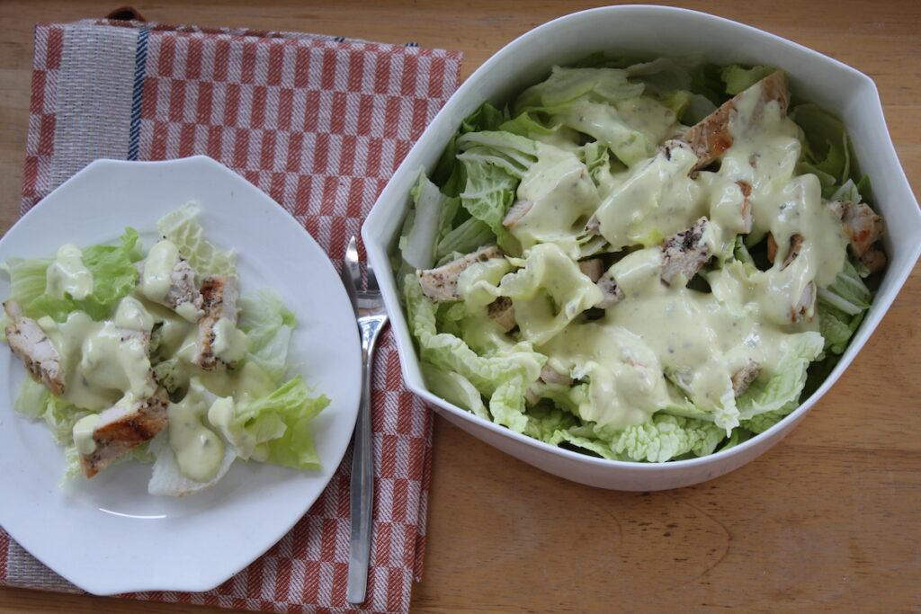 Light caesar salad