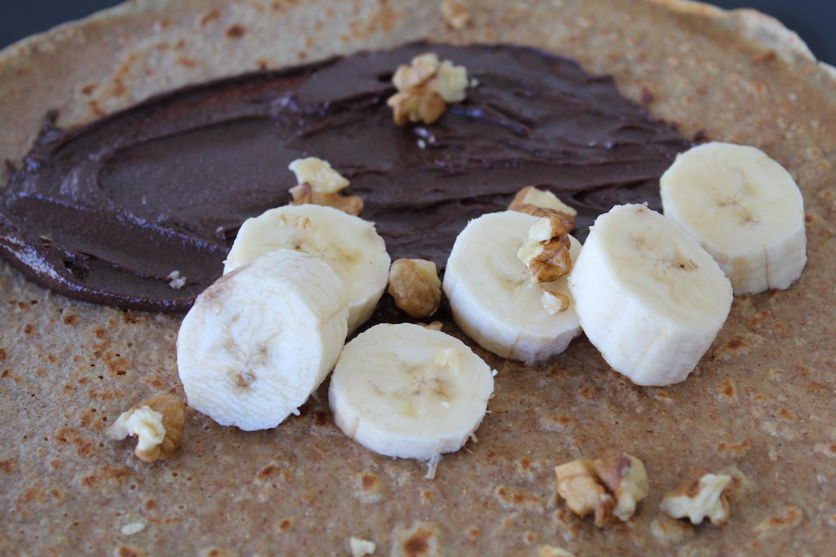 Κρέπες ολικής με σοκολάτα και μπανάνα