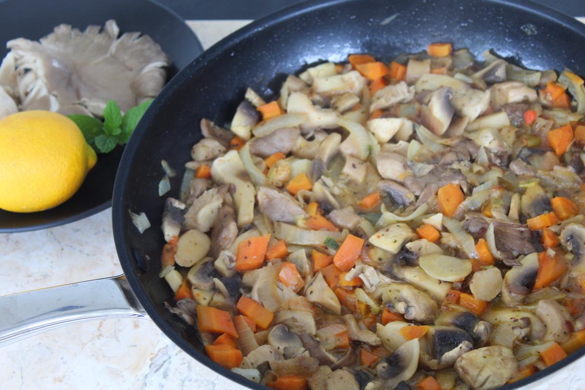 τηγανιά μανιταριών