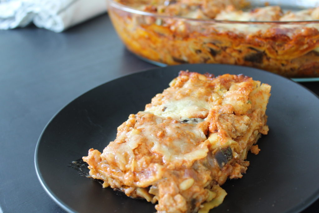Λαζάνια με κιμά κοτόπουλου και λαχανικά