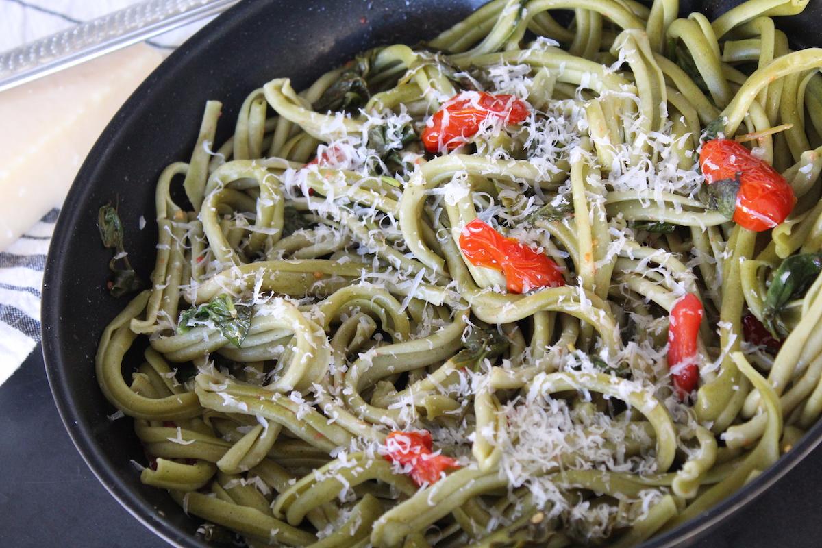 ζυμαρικά με σπανάκι