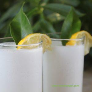 λεμονάδα σπιτική με γάλα καρύδας