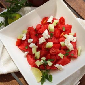 σαλάτα με καρπούζι και φέτα