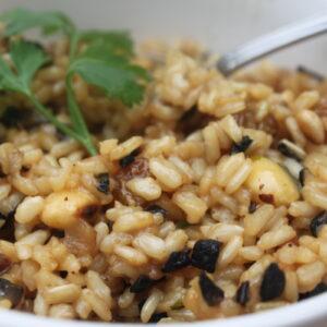 Γέμιση με καστανό ρύζι