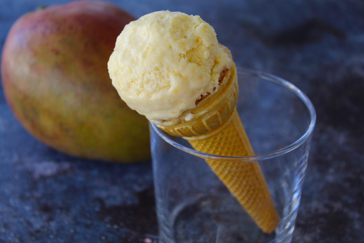 Vegan παγωτό μάνγκο