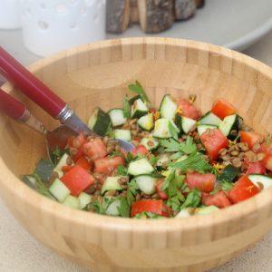 Μεσογειακή σαλάτα με φακές
